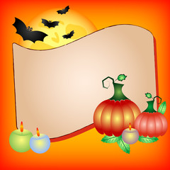 Festive illustration on theme of Halloween with field for text