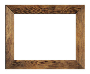 old wood frame isolated