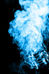 Blue cigarette smoke