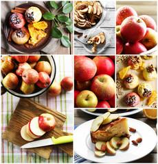 Juicy apples collage