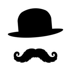 Vector sign. Mustache.