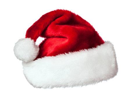 Santa hat on white
