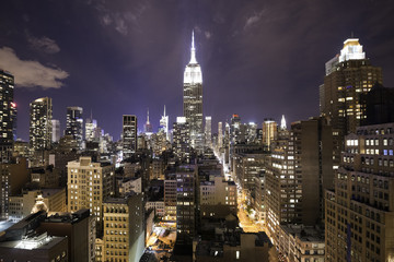 Night over Manhattan Fototapete