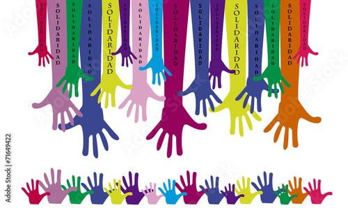 """""""Manos Unidas-solidaridad"""" Imágenes De Archivo Y Vectores"""