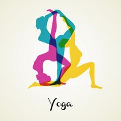 Yoga poses silhouette