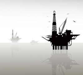 Oil refinery-Vector