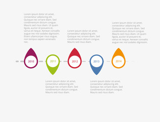 Horizontal vector timeline infographic