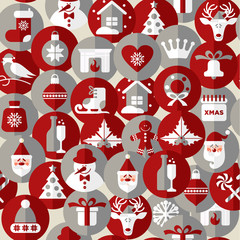 Seamless christmas pattern. Vector background.