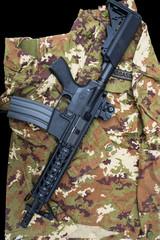 Carabine on uniform