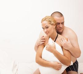 Sexy passionate heterosexual couple