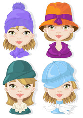 Four  Woman Hats