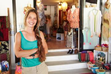 Portrait Of Female Clothing Shop Owner