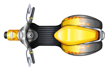 A topview of a scooter