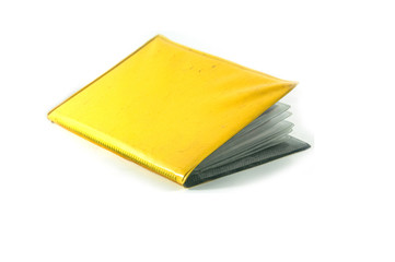 yellow wallet card