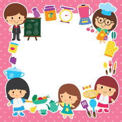 food preparation and kids layout design