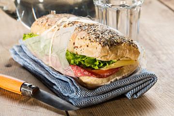 Healthy sandwich with garnish