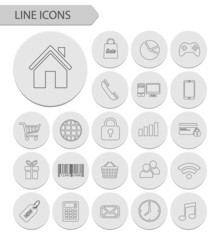 Line icons vector collection.