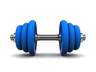 blue dumbell