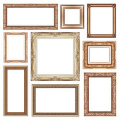 set of Vintage frame with blank space, clipping path