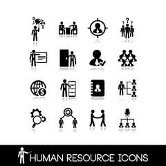 Human resource and management icons.Set vectors1.