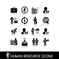 Human resource and management icons.Set vectors 2.
