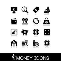 Money & banking  icons set 12.