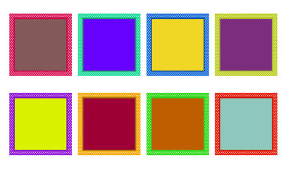 Set of colorful frames