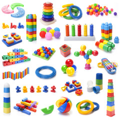 many colour kids toys