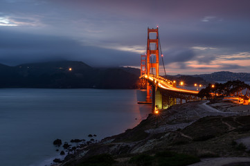 Illumination in  Golden Gate bridge, San Francisco, California
