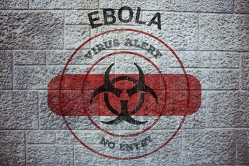 Composite image of ebola virus alert