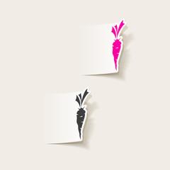 realistic design element: carrots