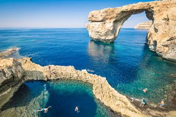 Obraz The world famous Azure Window in Gozo island Malta - fototapety do salonu