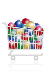Christmas Balls Sale Buy Trolley