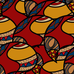 African ethnic Seamless colorful pattern. Vector illustration.