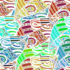 Seamless African ethnic color pattern. Vector illustration.