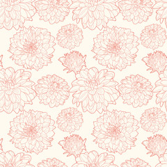 Seamless vintage floral pattern with aster