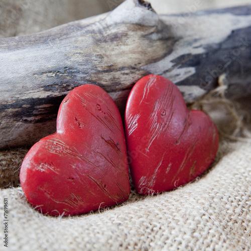 Couple de coeurs rouge amoureux photo libre de droits - Coeurs amoureux ...