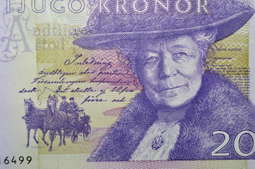 Selma Lagerlof swedish writer banknote