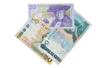 Sek  Swedish crowns banknotes composition