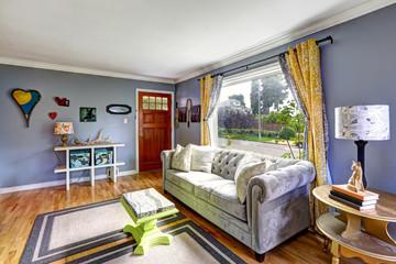 Living room interior with big window