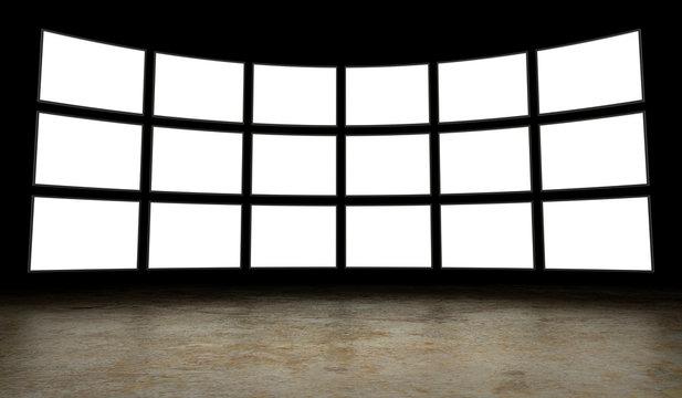Empty tv screens