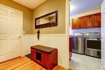 Hallway and laundry interior