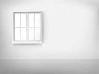 3d empty room with window