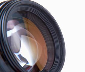 Camera lens, isolated on white background.