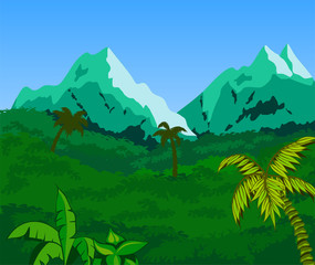 Tropical Landscape Background.