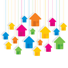 creative colorful home pattern background vector