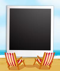 Photo frame and beach