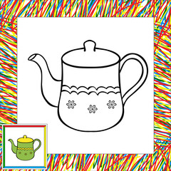 Teapot coloring book