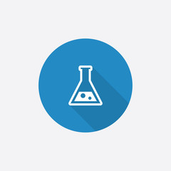 laboratory Flat Blue Simple Icon with long shadow.