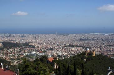 Barcelona desde la montaña del Tibidabo